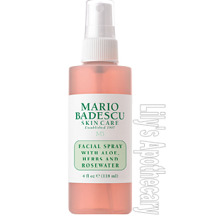 Facial Spray with Aloe, Herbs & Rosewater 4 oz.